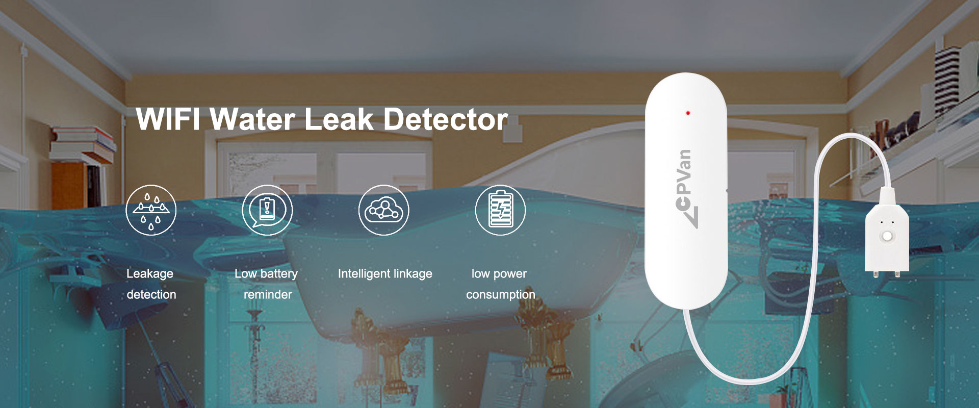WIFI Water Leak Sensor